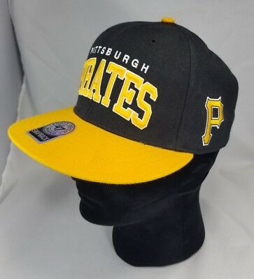 low priced 88748 8ad1b Pittsburgh Pirates 47 Brand Snapback Canvas Hat Cap MLB two logos