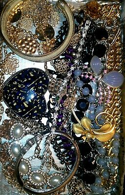 Huge Vintage & Now Jewelry Lot Estate Find Junk Drawer UNSEARCHED UNTESTED#pearl