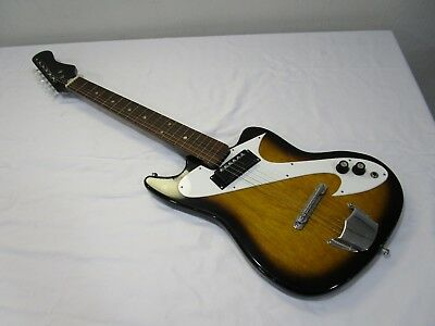 Awesome 60's Vintage Silvertone? / Teisco? MIJ  Electric Guitar w/ Case -> Cool!