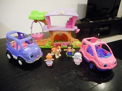 Fisher Price little people Pink Treehouse & Cars