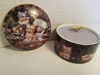 """1st Issue Ardleigh-Elliott 1994 Kitten Expeditions """"By the Lily Pond""""Musical NIB"""