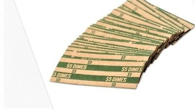 20 Dime - Pop - Open Flat Paper Coin Wrappers  tubes for dimes FREE SHIPPING