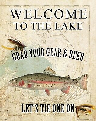 Rainbow Trout Unlimited Fly Fishing Club Art Print Welcome Tie One On MAP43