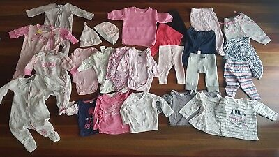 Size 000 0-3 mths bulk baby girls winter clothes - 26 items (lot no. 6)