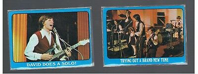 2  1972 Partridge Family David Cassidy Cards