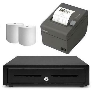 Square Receipt Printer & Cash Drawer iPad Compatible Bundle #2