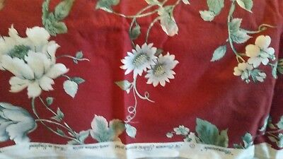 Cotton fabric made in England antique vintage fabric in new condition