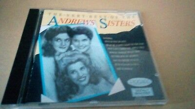 The Very Best Of The Andrews Sisters  - Cd Album