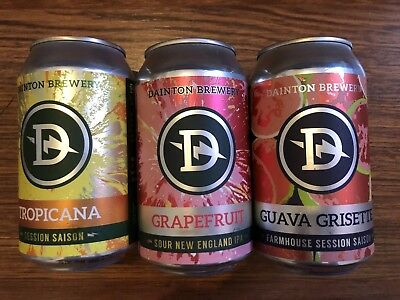 3 X 375ml Mixed Australian Craft Beer Can Lager Microbrew Breweriana