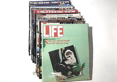 Lot of 13 Vintage Full Set LIFE Magazines From 1989 Jackie, Bombs, Mike Tyson