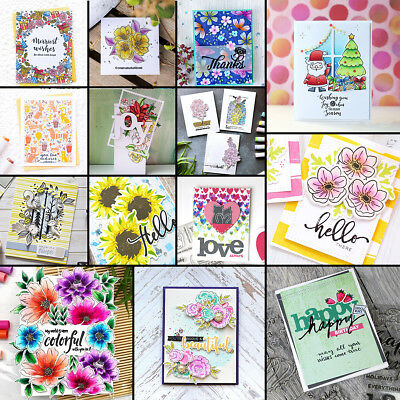 UK Transparent Silicone Clear Rubber Stamp Cling Diary Scrapbooking DIY Craft