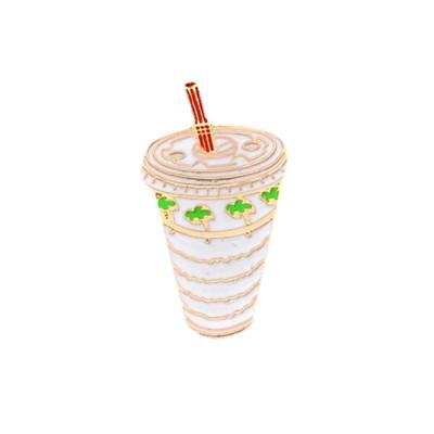 NEW In N Out Burger Enamel Pin Hamburger Milkshake Drink Double White Green Gold
