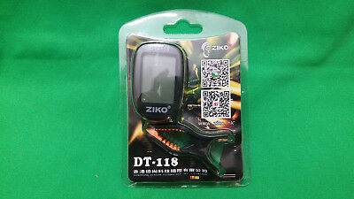 Digital Clip-On Tuner ZIKO DT-118 Guitar Bass Ukulele Violin Banjo Chromatic