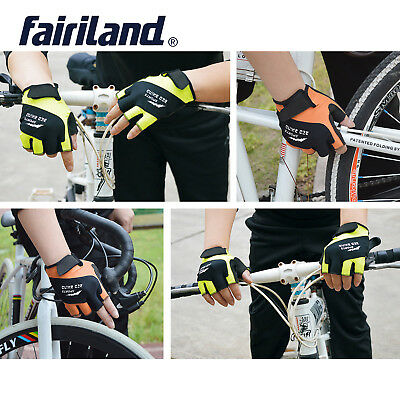 Half Finger Bike Bicycle Riding Gloves Shockproof Breathable Cycling Accessories