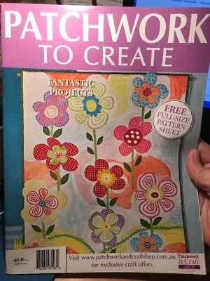 patchwork magazine/book - PATCHWORK TO CREATE - includes patterns - 13 projects