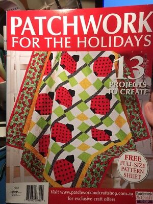 patchwork magazine/book - PATCHWORK FOR THE HOLIDAYS - includes patterns