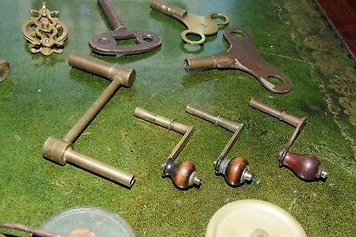 Selection Of 19Th Century  Keys, Winders And Wheels  For Clocks