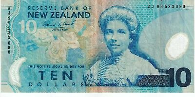 1999 New Zealand Banknote $10