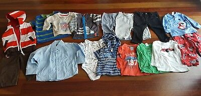 Size 0 6-12 mths bulk baby boys winter clothes - 15 items (lot no. 27)