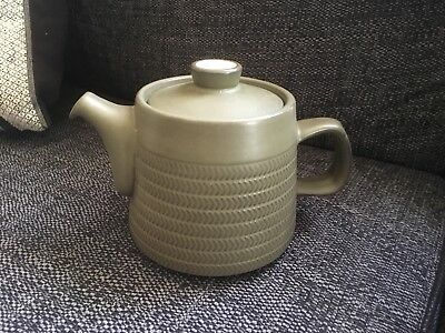 Denby Chevron Green Teapot 1 1/3 Pint