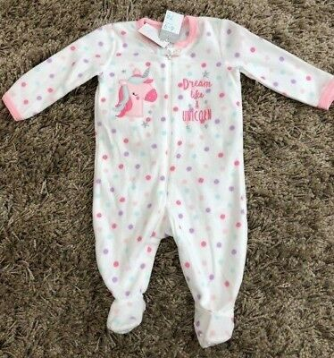 Primark Baby Girls Soft Unicorn All In One Nightwear Pyjamas Bnwt All Ages