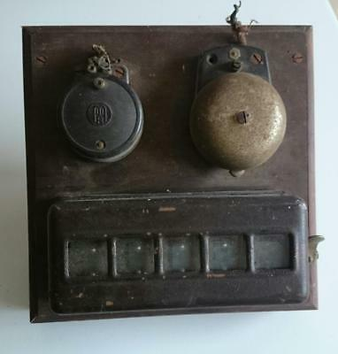 Very old VINTAGE BUTLER'S BELL / BUTLERS BOX / SERVANTS BELL BOARD