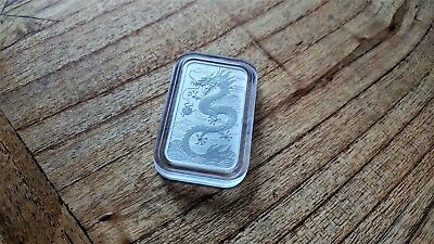 2018 Dragon Bar 1oz 999 Silver Bullion Coin in Capsule by The Perth Mint - Lot 8