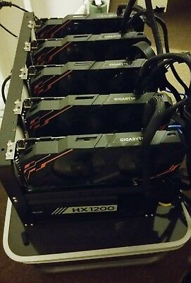 Mining rig - 5 x 1070 ti, complete rig ready to go