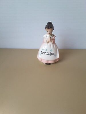 vintage retro kitsch  prayer praying girl lady japan  LABEL ATTACH AIR FRESHENER