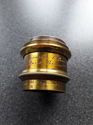 lovely late 19th century Lancaster and sons patent , gilt brass camera ? Lense
