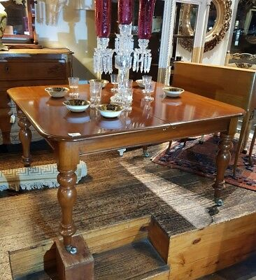 Antique Mahogany Dining Table Extension