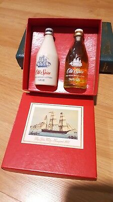 Vintage 2 pc Old Spice After Shave Lotion Lime Gift Box Set