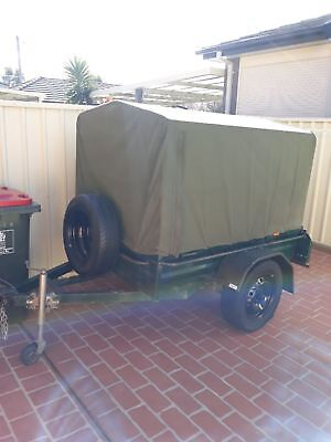 6x4 Box Trailer with removable Canvas cover and steel frame
