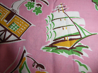 Vintage Pink Fabric piece of material