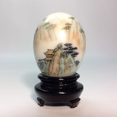 Vintage Hand Painted Chinese Marble Egg