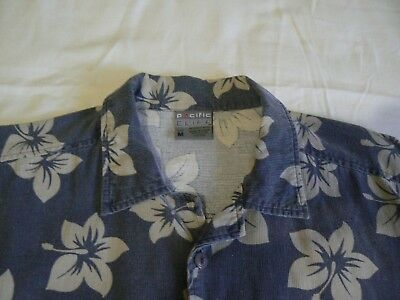 HAWAIAN STYLE Men's FLORAL CASUAL SHIRT, PACIFIC CLIFF, Size M, 85cm *OFFER*