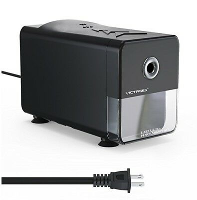 Victagen Electric Pencil Sharpener,Heavy Duty Automatic Helical Steel Blade