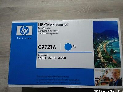 New Genuine HP Color LaserJet C9721A Cyan for 4600,4610 & 4650. Made in Japan