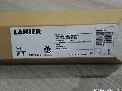New Genuine  Lanier Magenta Cartridge for MP C3501 / MP C5000, Made in Japan