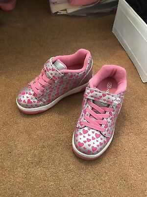 girls pink heart heelys size 13 - excellent condition. Used in the house only.