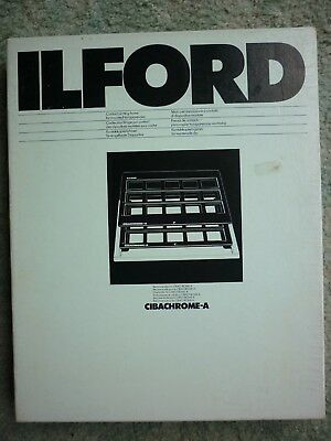 Ilford Cibachrome A Contact Printing Frame mounted transparencies boxed