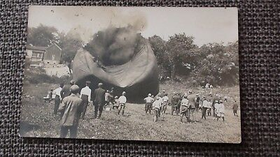 rare postcard, Air Balloon disaster, RP , Hot air balloon explosion