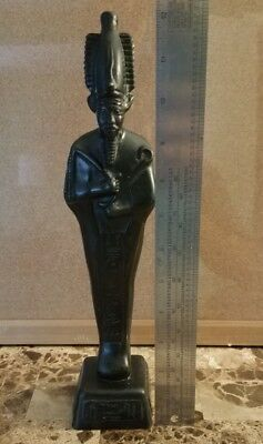 **Haunted** Antique Egyptian Hand Carved Wooden Statue