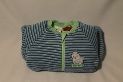 Snugtime blue and green winter sleep suit size 00 3-6months preowned