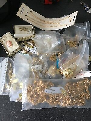 Job Lot Of Vintage 18ct Gold Plated Jewellery New Old Stock