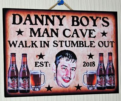 Personalised Bar Sign Garden Shed Home Pub Wood Wall Plaque Gift Beer Man Cave