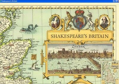National Geographic Map - 1964 - Shakespeare's Britain