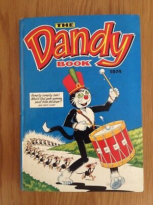 The DANDY BOOK 1974 vintage hardback comic annual
