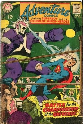 Adventure Comics Featuring Superboy and the Legend of Superheros #366- DC-1968