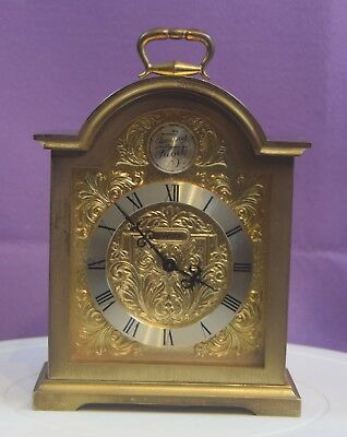 A Vintage Swiza Brass Carriage Clock With Alarm.